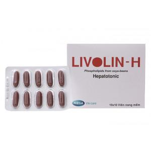 Thuốc điều trị viêm gan Livolin-H (10 vỉ x 10 viên/hộp)