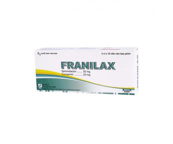 Thuốc lợi tiểu Franilax (3 vỉ x 10 viên/hộp)