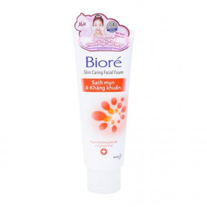 Sữa rửa mặt sạch mụn & kháng khuẩn Biore 50g