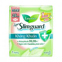Băng vệ sinh Laurier Super Slimguard kháng khuẩn siêu siêu mỏng có cánh 25cm (7 miếng/gói)