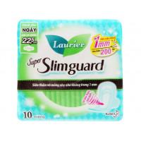 Băng vệ sinh Laurier Super Slimguard siêu siêu mỏng có cánh 22.5cm (10 miếng/gói)
