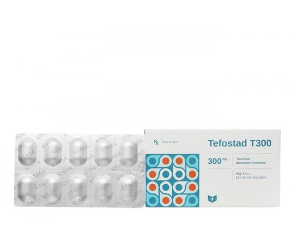 Thuốc kháng virus Tefostad Stada 300mg (3 vỉ x 10 viên/hộp)