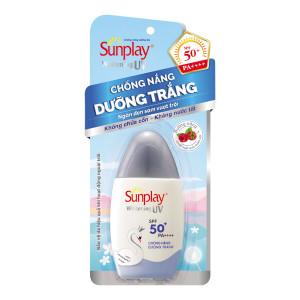 Sữa chống nắng dưỡng trắng da, ngăn đen sạm Sunplay Whitening UV SPF50+ (30g)
