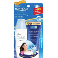 Kem chống nắng dưỡng da ngừa mụn Sunplay Skin aqua Acne Clear Milk (25g)