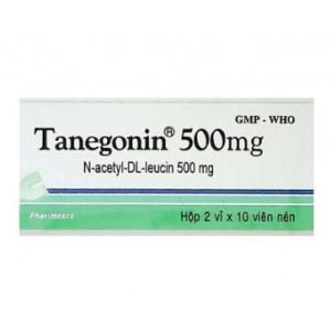 Thuốc trị chóng mặt Tanegonin 500mg (2 vỉ x 10 viên/hộp)