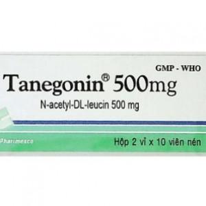 Thuốc trị chóng mặt Tanenin 500mg (2 vỉ x 10 viên/hộp)