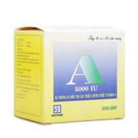 Thuốc bổ sung Vitamin A 5000IU Nadyphar (10 vỉ x 10 viên/hộp)