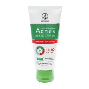 Kem rửa mặt ngăn ngừa mụn Acnes Creamy Wash Trio Active (100g)