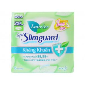 Băng vệ sinh Laurier Super Slimguard kháng khuẩn siêu siêu mỏng có cánh (16 miếng/gói)
