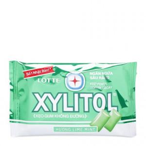 Kẹo gum không đường ngăn ngừa sâu răng hương bạc hà Lotte Xylitol (11.6g/vỉ)
