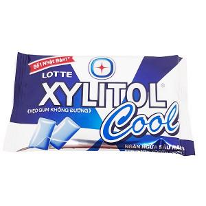 Kẹo gum không đường ngăn ngừa sâu răng hương bạc hà Lotte Xylitol Cool (11.6g/vỉ)