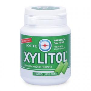 Kẹo gum không đường ngăn ngừa sâu răng hương bạc hà Lotte Xylitol (58g)