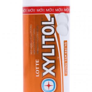 Kẹo ngậm không đường hương cam bạc hà Lotte Xylitol (20.88g)
