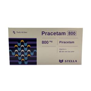 Thuốc điều trị suy giảm trí nhớ Pracetam 800mg (6 vỉ x 15 viên/hộp)
