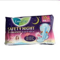 Băng vệ sinh ban đêm Laurier Safety Night siêu an toàn 35cm (4 miếng/gói)