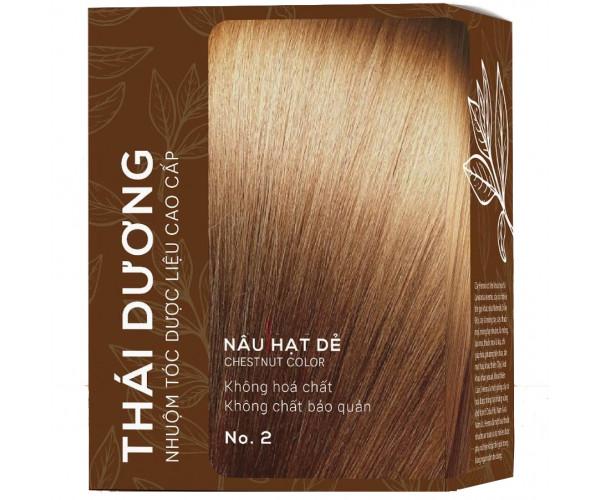 Thuốc nhuộm tóc dược liệu Thái Dương màu nâu hạt dẻ (5 gói/hộp)