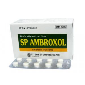 Thuốc long đờm, tiêu chất nhầy đường hô hấp SP Ambroxol 30mg (10 vỉ x 10 viên/hộp)