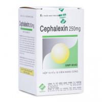 Thuốc kháng sinh Cephalexin Vidipha 250mg (10 vỉ x 10 viên/hộp)