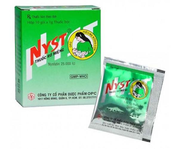 Thuốc rơ miệng Nyst (10 gói/hộp)