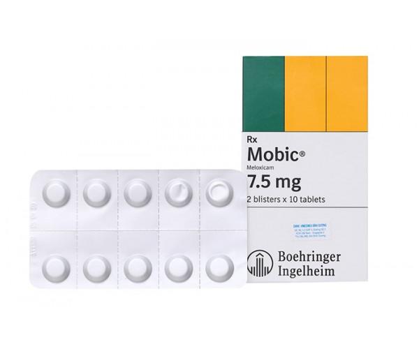 Thuốc giảm đau, kháng viêm Mobic 7.5mg (2 vỉ x 10 viên/hộp)