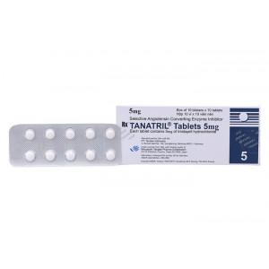 Thuốc điều trị cao huyết áp Tanatril Tablets 5mg (10 vỉ x 10 viên/hộp)