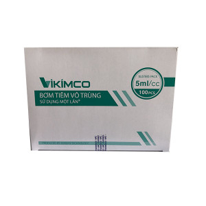 Bơm tiêm sử dụng một lần Vikimco (5ml/cc)