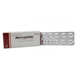 Thuốc trị mỡ máu Atorvastatin TV.Pharm 20mg hộp (3 vỉ x 10 viên/hộp)