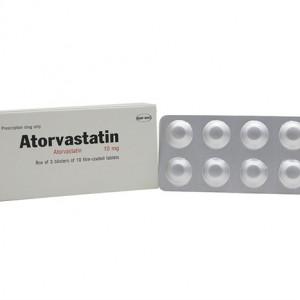 Thuốc trị mỡ máu Atorvastatin TV.Pharm 10mg (3 vỉ x 10 viên/hộp)