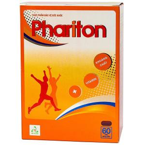 Viên uống bổ sung vitamin và khoáng chất Phariton (12 vỉ x 5 viên/hộp)