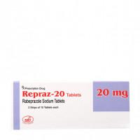 Thuốc điều trị loét dạ dày, tá tràng Repraz 20 (3 vỉ x 10 viên/hộp)
