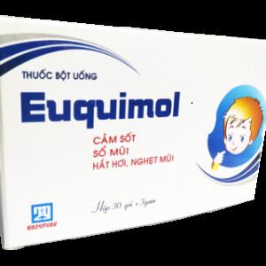 Thuốc điều trị cảm cúm, cảm lạnh trẻ em Euquimol (30 gói/hộp)