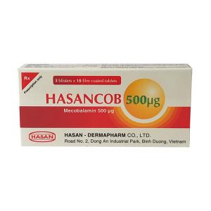 Thuốc trị bệnh lý thần kinh ngoại biên Hasancob 500mcg (3 vỉ x 10 viên/hộp)