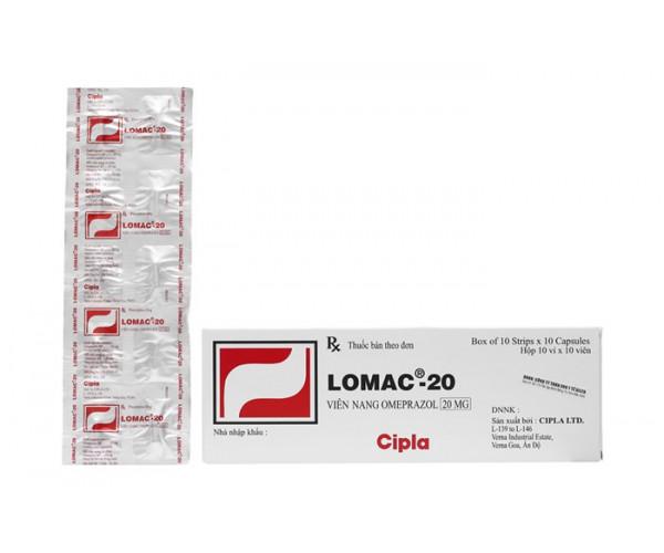 Thuốc trị loét dạ dày, tá tràng Lomac 20mg (10 vỉ x 10 viên/hộp)