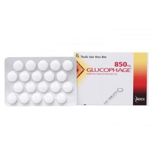 Glucophage 850mg (5 vỉ x 20 viên/hộp)
