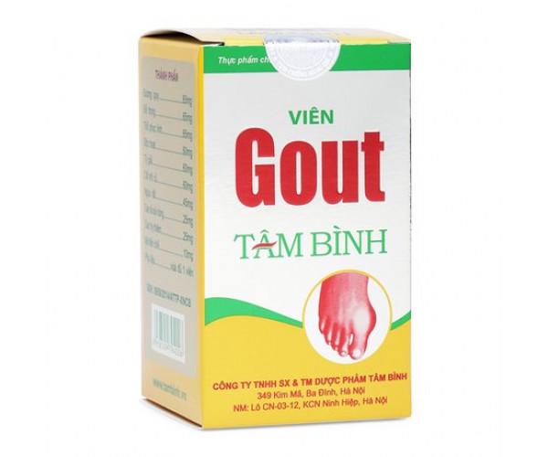 Viên uống hỗ trợ và điều trị bệnh gout Viên Gout Tâm Bình (60 viên/hộp)