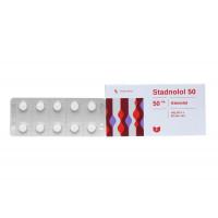 Thuốc trị cao huyết áp, đau thắt ngực Stadnolol 50mg (10 vỉ x 10 viên/hộp)