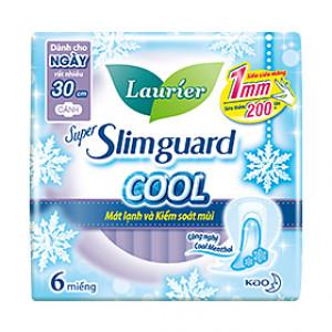 Băng vệ sinh Laurier Super Slimguard mát lạnh và kiểm soát mùi có cánh (6 miếng/gói)