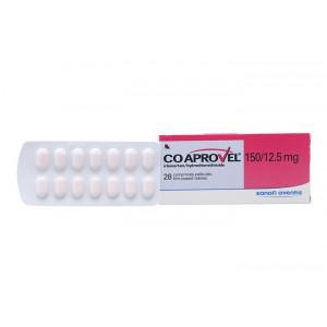 Thuốc trị cao huyết áp Co Aprovel 150mg/12.5mg (2 vỉ x 14 viên/hộp)