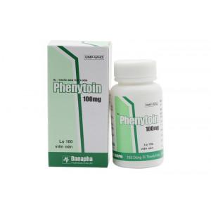 Thuốc trị động kinh Phenytoin 100mg Danapha(100 viên/chai)