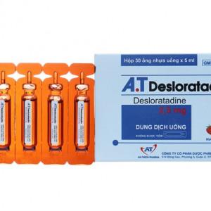 Dung dịch uống kháng dị ứng A.T Desloratadine 2.5mg (30 ống x5ml/hộp)