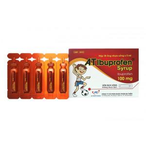 Siro giảm đau, hạ sốt A.T Ibubrofen 100mg (30 ống x 5ml/hộp)