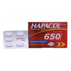 Thuốc giảm đau, hạ sốt Hapacol 650mg (10 vỉ x 5 viên/hộp)