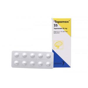 Thuốc trị động kinh Topamax 25mg (6 vỉ x 10 viên/hộp)