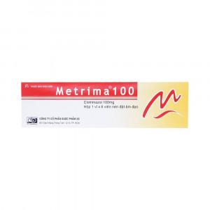 Viên đặt âm đạo trị nấm Metrima 100mg (6 viên/hộp)