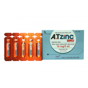 Dung dịch uống bổ sung kẽm A.T Zinc 5ml (30 ống/hộp)
