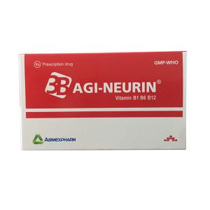 Thuốc bổ sung vitamin B1, B6, B12 Agi-Neurin (10 vỉ x 10 viên/hộp)