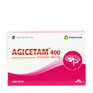 Thuốc điều trị suy giảm trí nhớ Agicetam 400mg (10 vỉ x 10 viên/hộp)