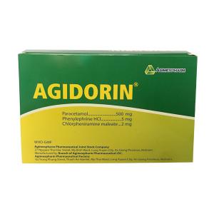 Thuốc điều trị cảm, sốt, viêm mũi Agidorin (25 vỉ x 4 viên/hộp)