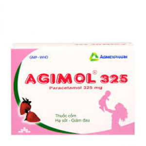 Thuốc giảm đau, hạ sốt Agimol 325 (10 gói/hộp)