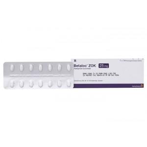 Thuốc trị cao huyết áp, đau thắt ngực Betaloc Zok 25mg (14 viên/hộp)